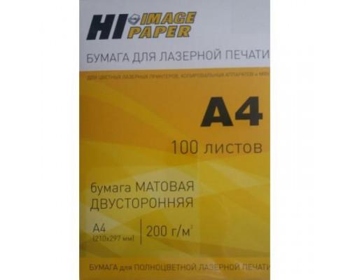 Бумага для лазерной печати (Hi-Image Paper) матовая двусторонняя, A4, 200 г/м2, 100 л.