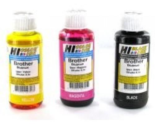 Комплект чернил для принтеров и МФУ Brother, универсальные (Hi-Black), 4 штуки по 0,1 л.