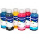 Комплект чернил InkTec E0010 для струйных принтеров и МФУ Epson Stylus Photo R200/R270, 6 штук по 0,1 л.