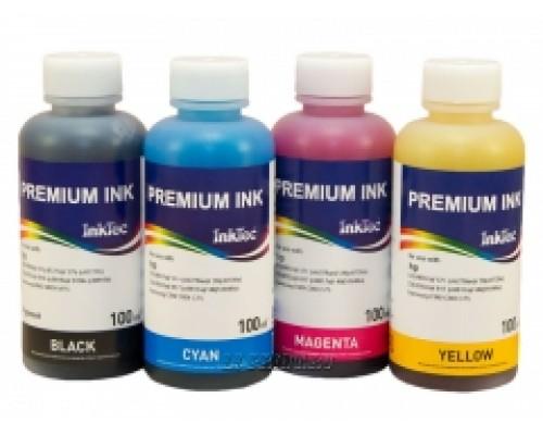 Комплект чернил InkTec H0005-H0006 для струйных принтеров и МФУ HP DJ 3425/ PCS 1210; DJ 350/600/ PSC 300 (С8727/С6656; 51649/6657/8728), 4 штуки по 0,1 л.