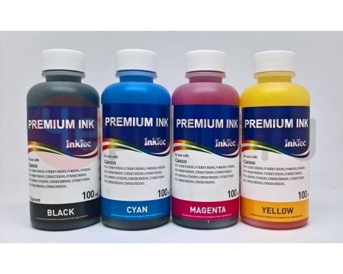 Комплект чернил InkTec C0090 для струйных принтеров и МФУ Canon со встроенной СНПЧ G3400, G1400, G2400, G4400, G1410, G2410, G3410, G4410 (GI-490/790/890/990), 4 штуки по 0,1 л.