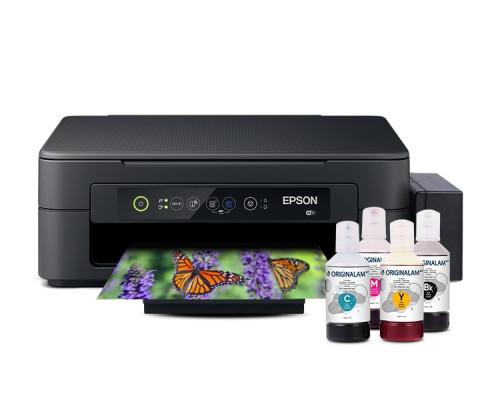 Струйное МФУ (принтер, сканер, копир) Epson XP-2100 с БНСПЧ (бесконтактная система непрерывной подачи чернил) и комплектом чернил 4 х 70 мл.