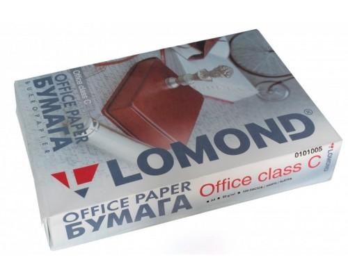 Офисная белая бумага Lomond Office (ориг. артикул 0101005), A4, класс C, 80 г/м2, 500 листов