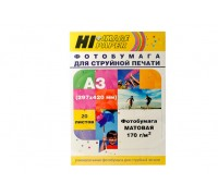 Фотобумага Hi-Image Paper матовая двусторонняя, A3, 170 г/м2, 20 л.