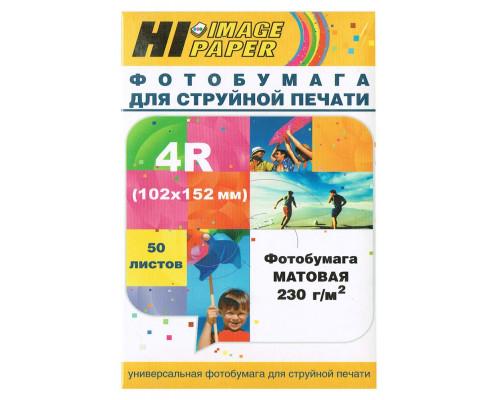 Фотобумага Hi-Image Paper матовая односторонняя, 102x152 мм, 230 г/м2, 50 л.