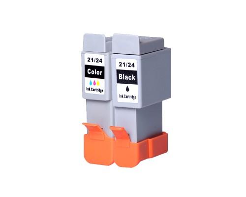 Комплект струйных картриджей BCI-21 (BCI-24Bk) / BCI-24Color для Canon PIXMA iP1000/1500/2000 (Hi-Black Ink), 2 штуки