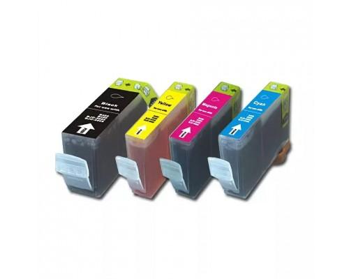 Комплект струйных картриджей для Canon BJC-8200 / S830D / S820D / S900 / PIXMA iP4000 (Hi-Black Ink), 4 штуки (Bk, C, M, Y)