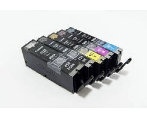 Комплект струйных картриджей для Canon PIXMA iP7240 / iX6840 / MG5440 / MG5640 / MG6340 / MG6440 / MG6640 / MG7140 / MG7540 / MX924 (Hi-Black Ink), 6 штук (Bk pigment, Bk, C, M, Y, GY)