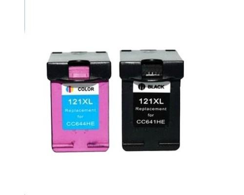 Комплект струйных картриджей для HP DeskJet F4283 / D2563 (Hi-Black Ink), № 121XL (Bk, Color), 2 штуки