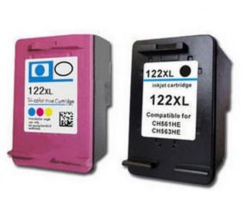 Комплект струйных картриджей для HP Deskjet 1000 / 1050 / 2000 / 2050 / 3000 / 3050 (Hi-Black Ink), № 122XL (Bk, Color), 2 штуки