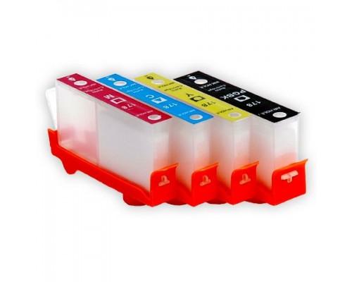 Комплект струйных картриджей для HP Photosmart C5383 / C6383 / B8553 / D5463 (Hi-Black Ink), 4 штуки (Bk, C, M, Y), №178XL