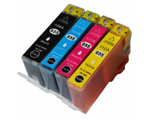 Комплект струйных картриджей для HP DJ IA 3525 / 5525 / 4515 / 4525 (Hi-Black Ink), № 655 (Bk, Cyan, Magenta, Yellow), 4 штуки
