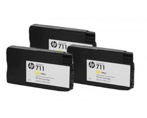 Комплект струйных картриджей для HP Designjet T520 / T120  (Hi-Black Ink), 4 штуки, № 711XL (Black), № 711 (Cyan, Magenta, Yellow)