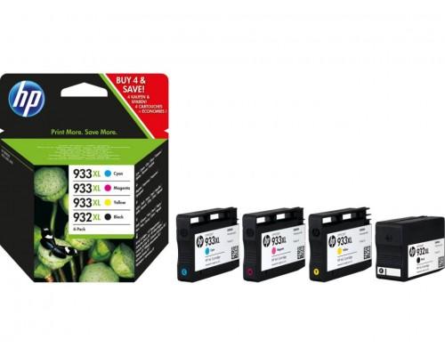 Комплект струйных картриджей для HP Officejet 6100 / 6600 / 6700 (Hi-Black Ink), 4 штуки (Bk, C, M, Y), № 932XL (Black) / 933XL (C, M, Y)