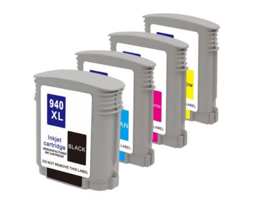 Комплект струйных картриджей для HP Officejet Pro 8000 / 8500 / 8500A / 8500A Plus (Hi-Black Ink), 4 штуки (Bk, C, M, Y), № 940XL