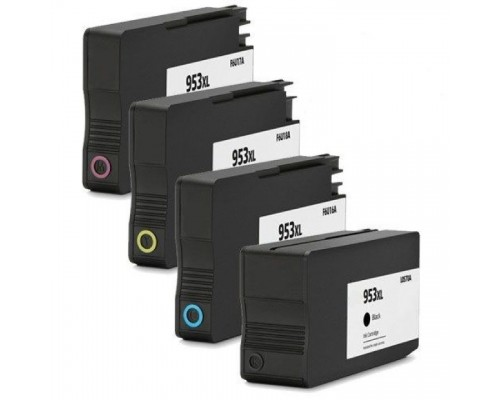 Комплект струйных картриджей для HP Officejet Pro 8710 / 8715 / 8720 / 8730 / 8210 / 8725 (Hi-Black Ink), 4 штуки (Bk, C, M, Y) № 953XL