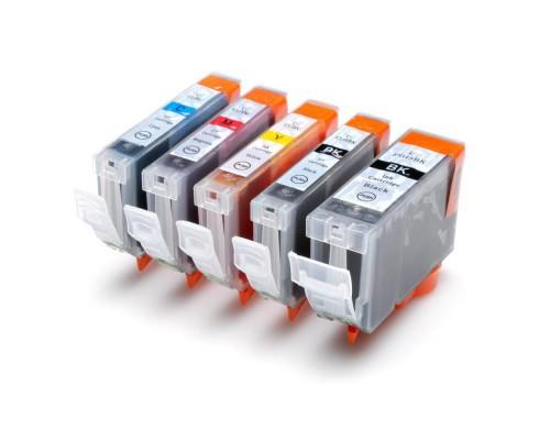 Комплект струйных картриджей PGI-5Bk / CLI-8Bk, C, M, Y для Canon MP 500 / 510 / 520 / 530 / iP4200 / iP6600D  (Hi-Black Ink), 5 штук