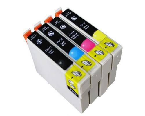 Комплект струйных картриджей T0731-T0734 для Epson Stylus C79 / C110 / T40W / TX200 / 400 / TX600FW (Hi-Black Ink), 4 штуки