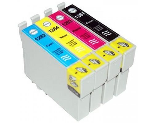 Комплект струйных картриджей T1281-T1284 для Epson Stylus S22 / SX125 / SX420W / SX425W / BX305F (Hi-Black Ink), 4 штуки