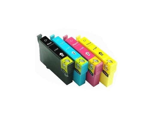 Комплект струйных картриджей T1711-T1714 для Epson XP-33 / 103 / 203 / 207 / 306 / 406 (Hi-Black Ink), 4 штуки